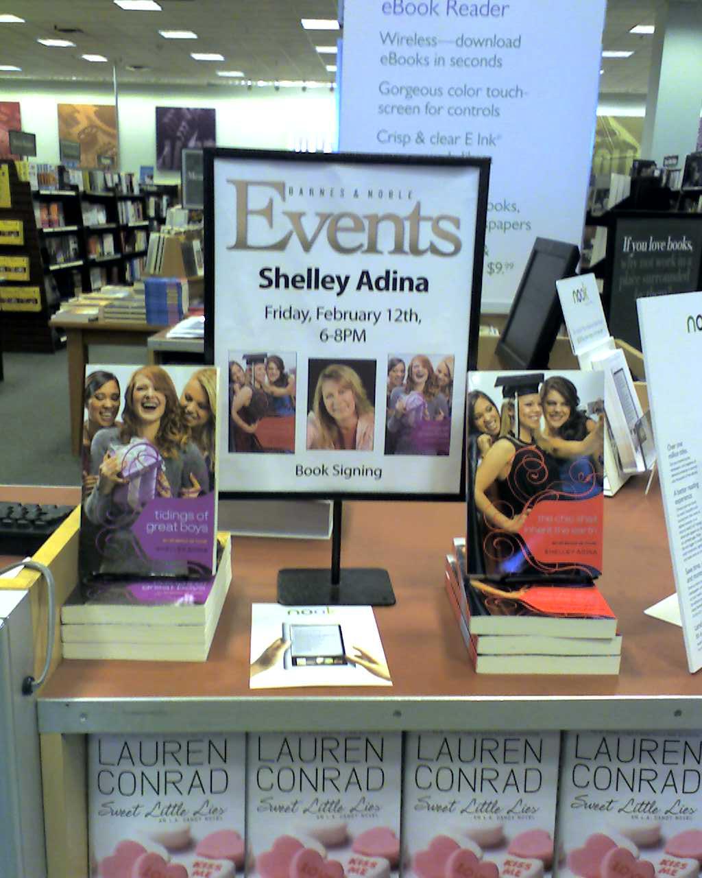 Shelley Adina book event