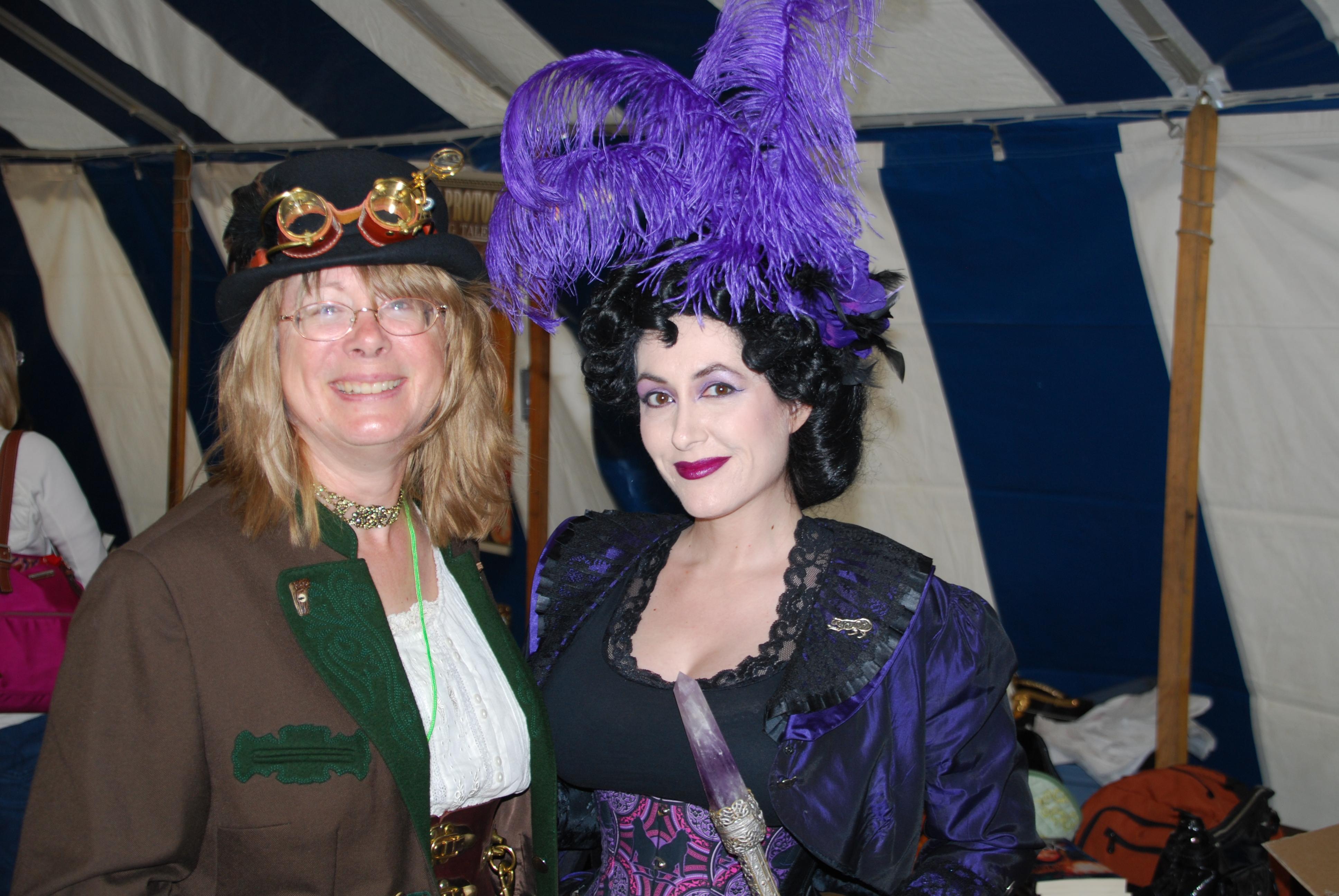 Author Shelley Adina and costumer Aleta Pardalis