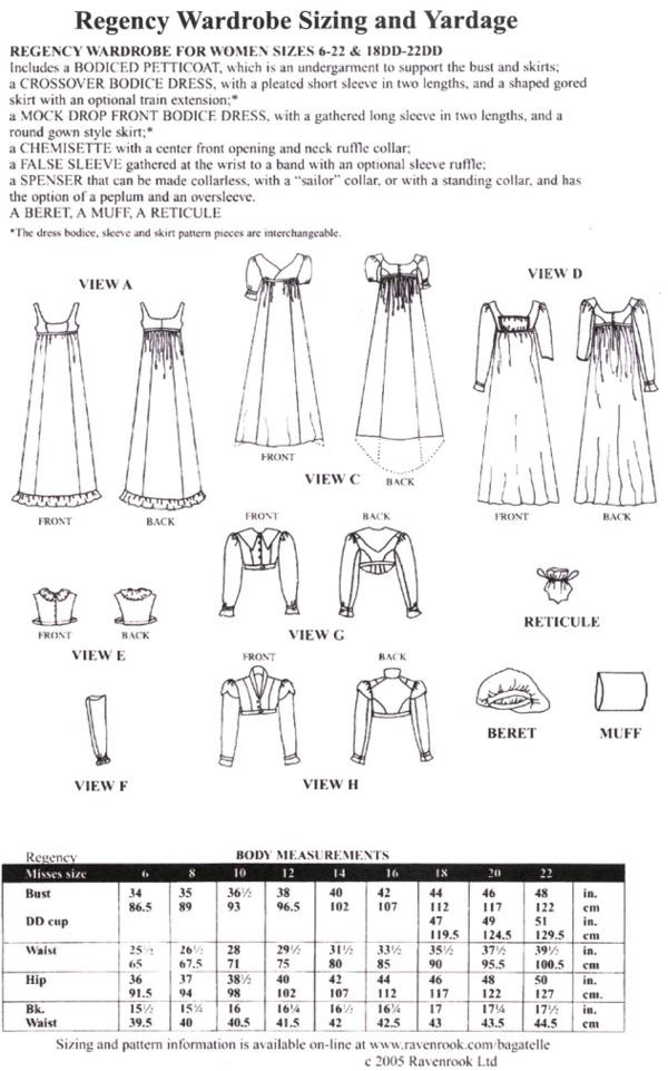 La Mode Bagatelle pattern back