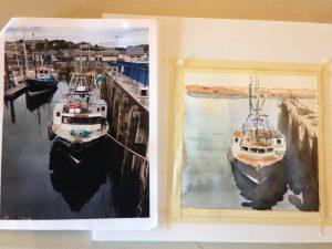 Fishing boat by Shelley Adina