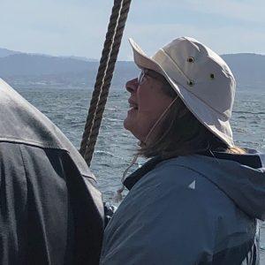 Watching the crew set sail