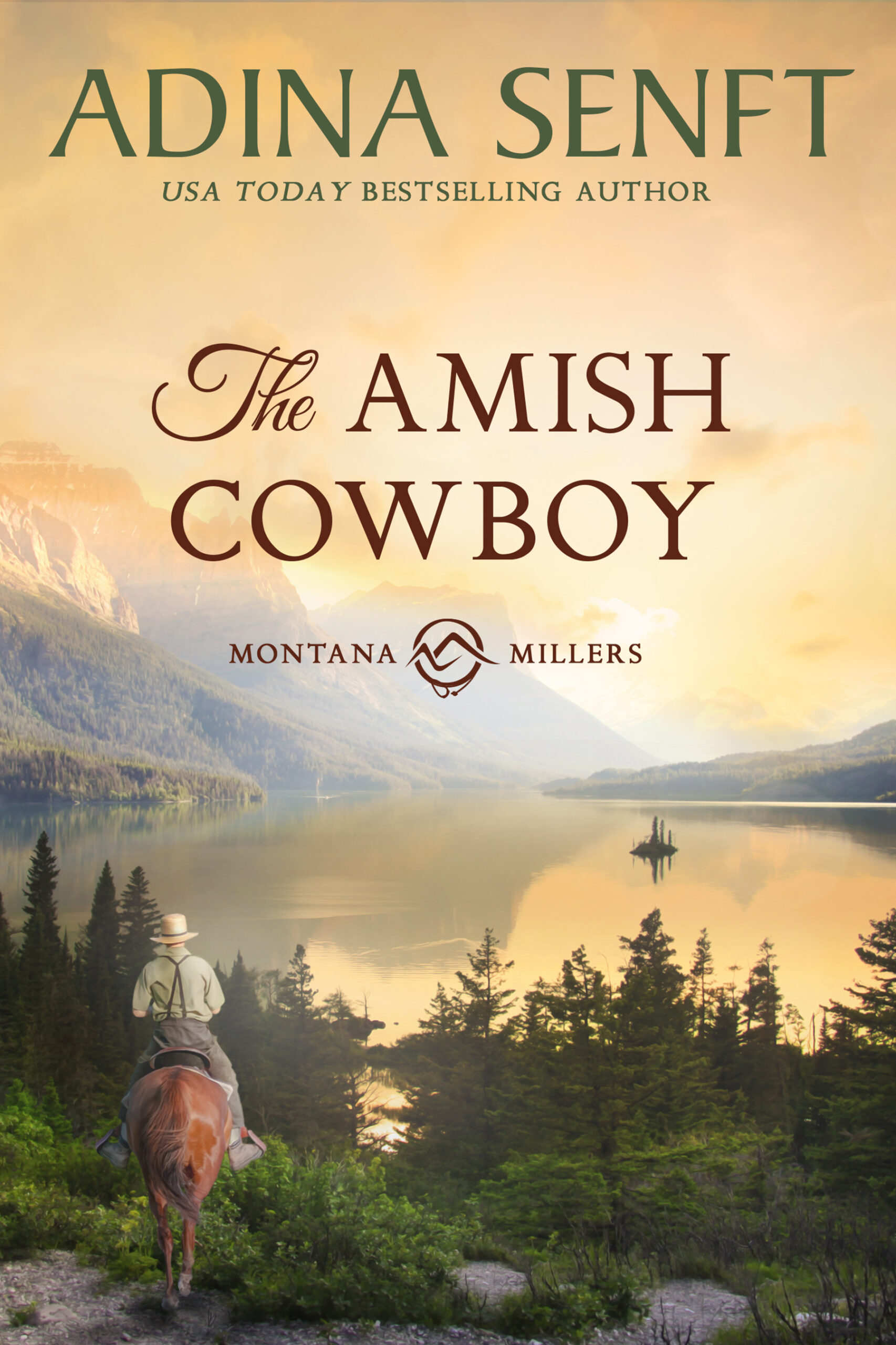 The Amish Cowboy by Adina Senft, Montana Millers book 1