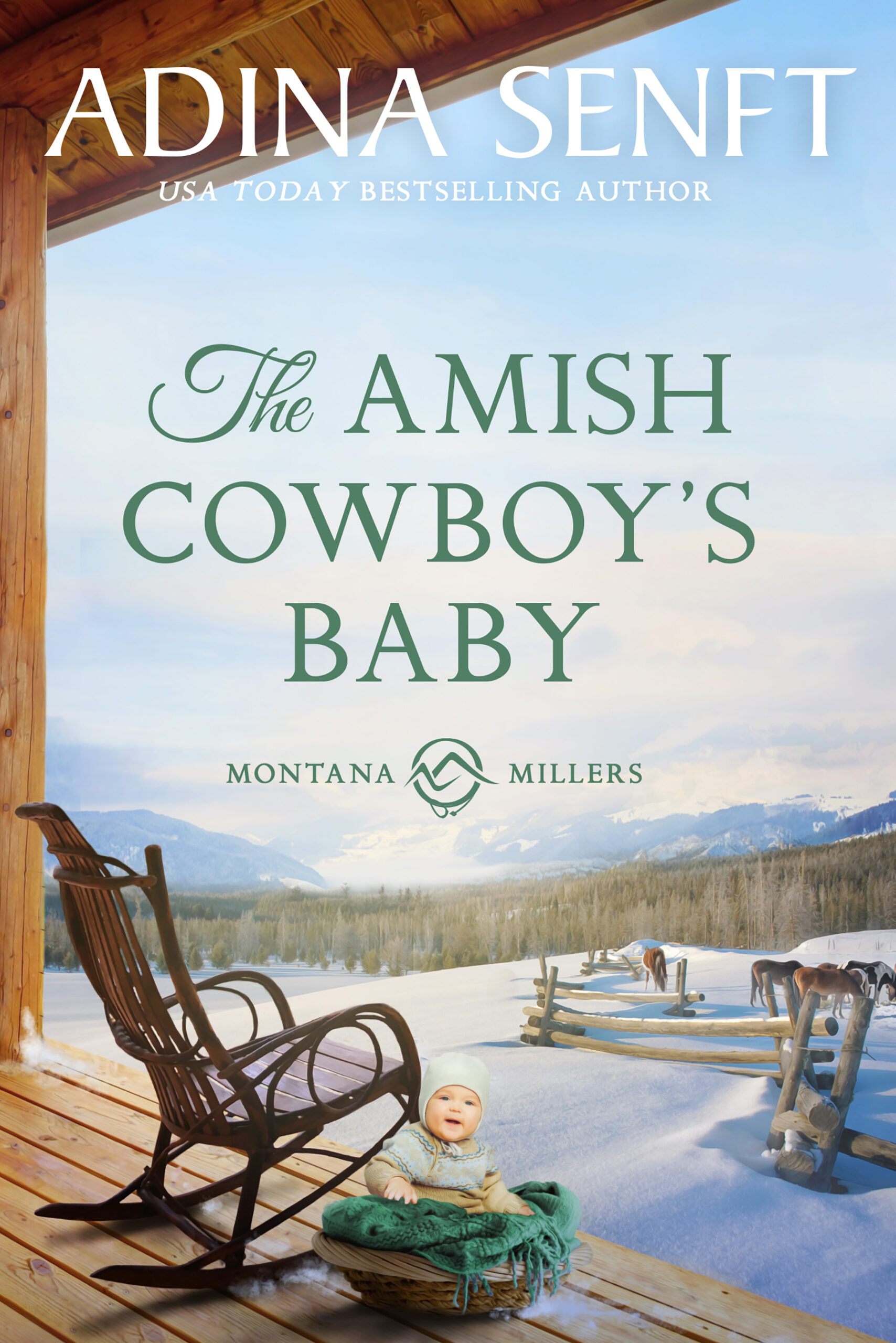 The Amish Cowboy's Baby by Adina Senft